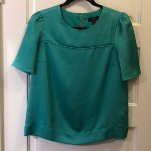J Crew emerald green blouse